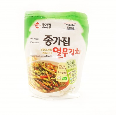 CHONGGA Yeolmu Kimchi (Young Radish Leaves Kimchi) 500g