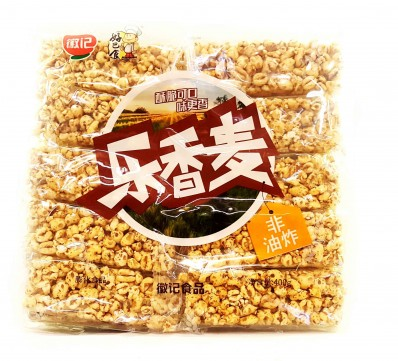 HUIJFOOD Roasted Wheat Snack Bar 400g