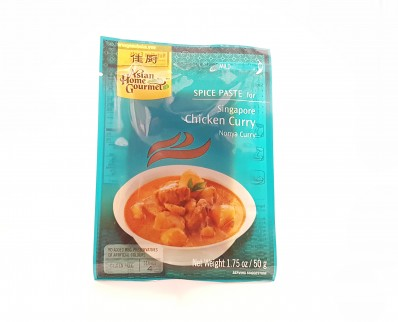 ASIAN HOME GOURMET Spice Paste for Singapore Chicken Curry Nonya Curry 50g