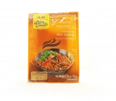 ASIAN HOME GOURMET Spice Paste for Indonesian Mee Goreng Sambal Fried Noodles 50g