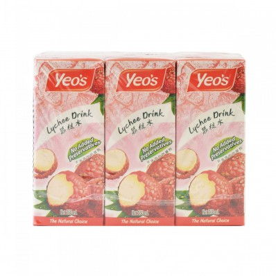 Yeo's Lychee Drink 6 X 250mL
