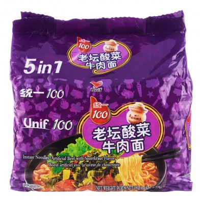 Unif Beef with Sauerkraut Flavour Noodles 5 X 119g