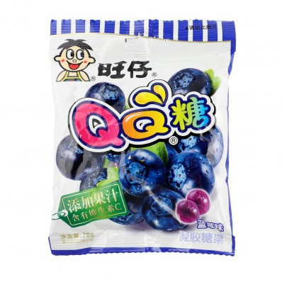 WANT WANT QQ Candy Blueberry Flavour 70g