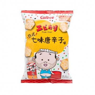 Calbee Shichimi Flavoured Prawn Chips 50g