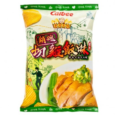 Calbee Chicken Rice with Ginger & Scallion Sauce Flavoured Potato Chips 70g