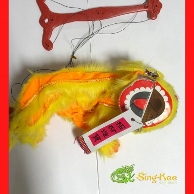 Chinese New Year Dragon Puppet Yellow