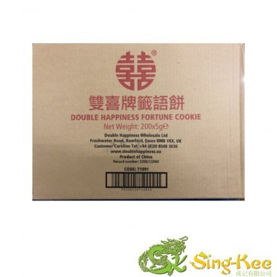 Double happiness fortune cookies 5g x 200