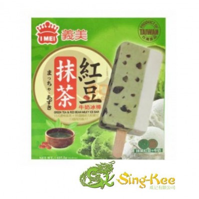 Imei Green Tea and Red Bean Milky Ice Bar 437.5g