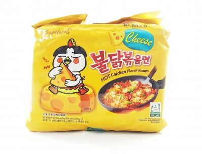 SAMYANG Cheese Hot Chicken Flavour Ramen (five 140g packets) 700g