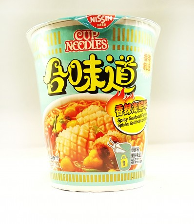 NISSIN Cup Noodles Spicy Seafood Flavor 73g