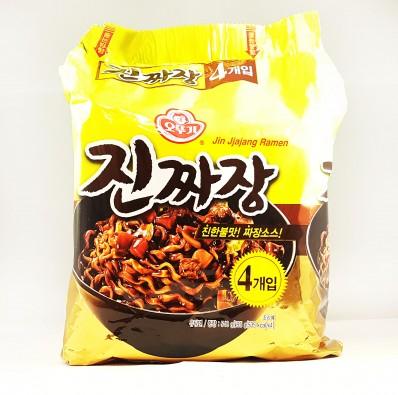 OTTOGI Jin Jjajang Ramen Noodles - 135g x 4
