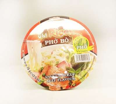 OH! RICEY Beef Flavour Rice Noodles 70g