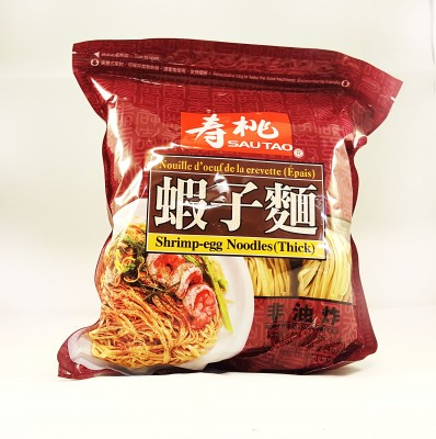 SAUTAO Shrimp Egg Noodles Thick 454g