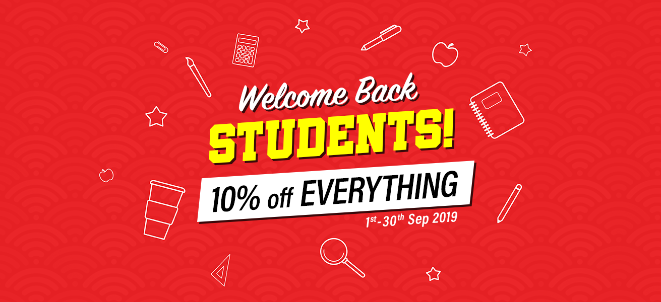 10% discount on all products during September 2019