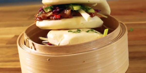 Vegan bao buns with pulled jackfruit recipe
